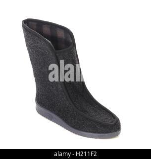 Winter man's boot. - Stock Photo