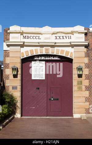 Old Dubbo Gaol was a prison in the city of Dubbo, New South Wales, Australia. - Stock Photo