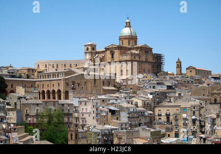 Cathedral and historic center of Piazza Armerina, Sicily, Italy
