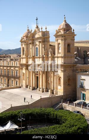 Noto Cathedral, Noto, Sicily, Italy - Stock Photo
