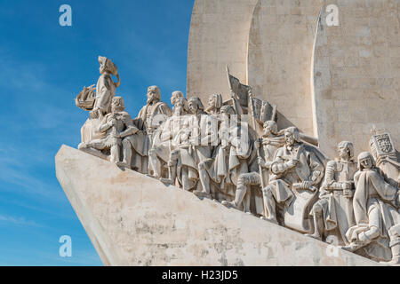 Padrão dos Descobrimentos, Monument to the Discoveries, close-up, Belém, Lisbon, Portugal - Stock Photo