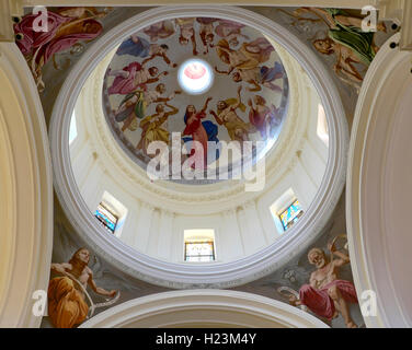 Dome in the Cathedral of St. Nicholas, Noto, Sicily, Italy - Stock Photo