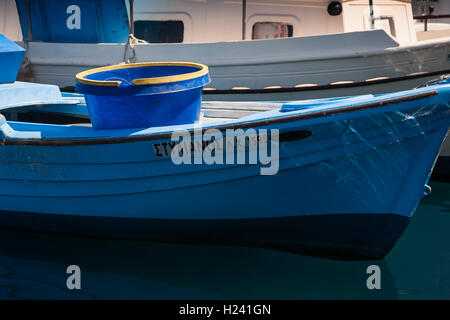 Fishing boat in Chania Harbour - Stock Photo