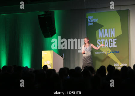 London, UK. 25th September, 2016.New Scientist Live show in London excel welcomed Professor Alice Roberts to the - Stock Photo