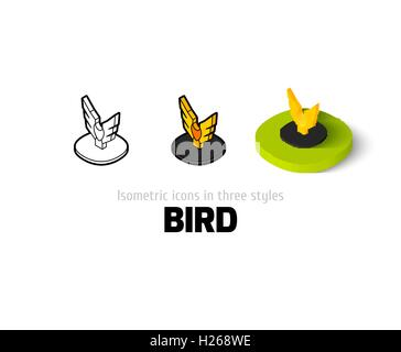 Bird icon in different style - Stock Photo