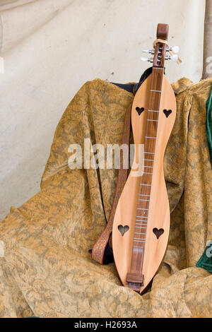 Mountain Dulcimer, Medieval Musical instrument - Stock Photo
