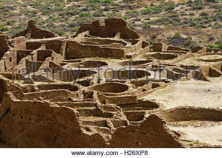 Pueblo Bonito, Chaco Culture National Historic Park, New Mexico - Stock Photo