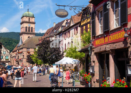 Kayserberg wine route town, Alsace, France - Stock Photo