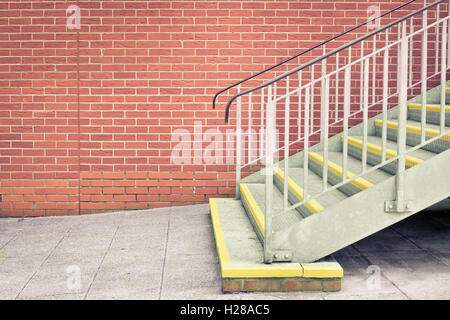 Metal stairs - Stock Photo