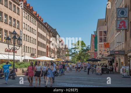 Konigstrasse, Nuremberg, Bavaria, Germany - Stock Photo