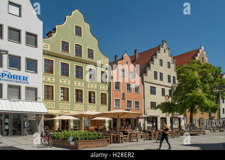 Baroque Buildings in Ingolstadt, Bavaria, Germany - Stock Photo