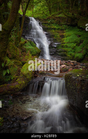 Blaen y Glyn Waterfall - Stock Photo