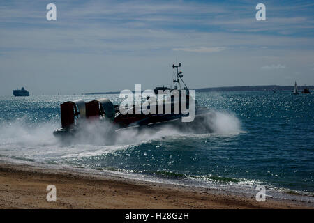 HOVERCRAFT, GH114, FREEDOM 90 TAKE OFF - Stock Photo