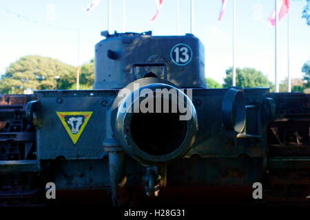 FUEL COUPLING FOR THE FUEL TRAILER CHURCHILL CROCODILE FLAME THROWER. - Stock Photo