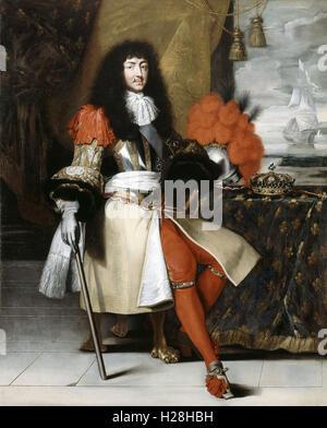 Louis XIV, King of France - Stock Photo