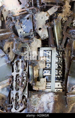 Sculptures made from Old used car parts - Stock Photo