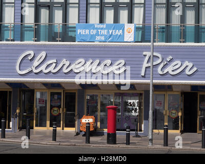 Clarence Pier, Southsea Seafront, Portsmouth, England, UK. - Stock Photo