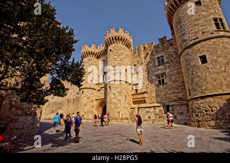 Palace of the Grand Master of Rhodes, Rhodes Island, Dodecanese Islands, Greece. - Stock Photo