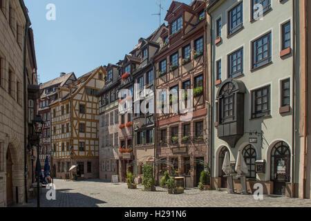 Weissgerbergasse, Nuremberg, Bavaria, Germany - Stock Photo
