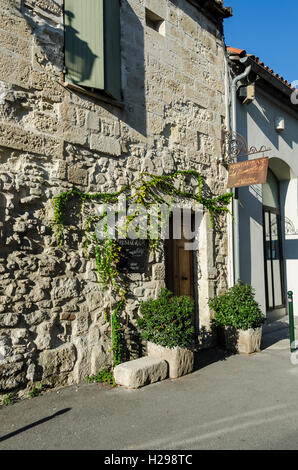 Restaurant, Aigues Mortes, Gard, Provence, France - Stock Photo
