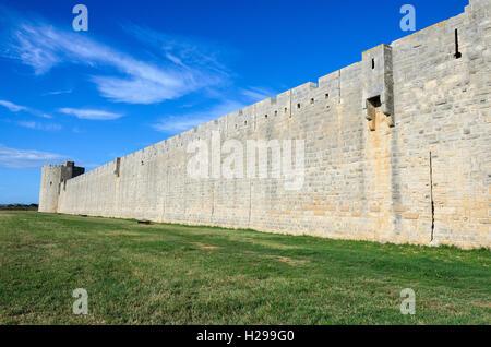 Remparts, Aigues Mortes, Gard, France - Stock Photo