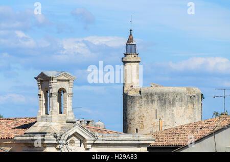Aigues Mortes, remparts, Gard, France - Stock Photo