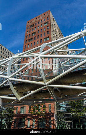 The Hague, the Netherlands - September 24, 2016: randstad rail line through the Beatrixkwartier in The Hague - Stock Photo