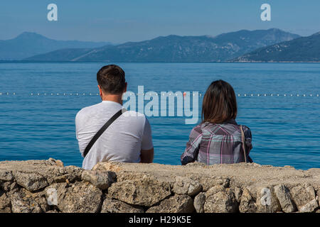 Valun Beach in Cres Island, Croatia - Stock Photo