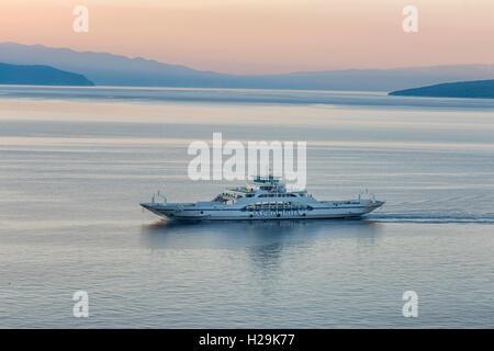 Ferry near Cres Island, Croatia - Stock Photo