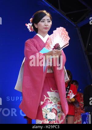 London's Premier Japanese Festival Japan Matsuri 2016 on Trafalgar square in London, UK, 25th September 2016 © Nastia - Stock Photo