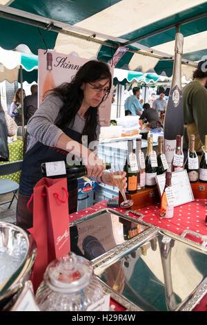 London, UK. 25th  September, 2016. The Balham Food Festival 2016 begins today showcasing the goumet food on offer - Stock Photo