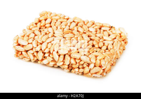Puffed rice isolated on a white background - Stock Photo