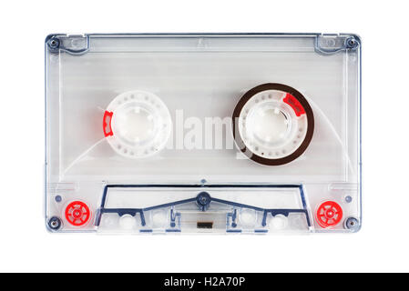 Audio cassette tape isolated on a white background - Stock Photo