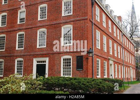 Massachusetts Hall on the cam pus of Harvard University - Stock Photo