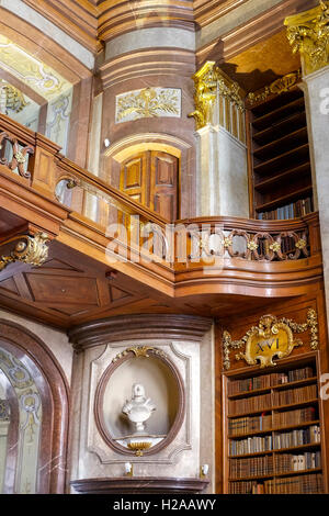 Vienna, Austria - August 14, 2016: Details of The State Hall (Prunksaal), heart of the Austrian National Library. - Stock Photo