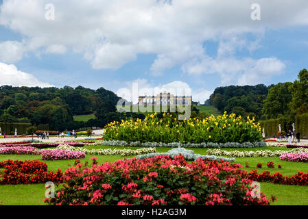 Gloriette in the Schonbrunn palace gardens. - Stock Photo