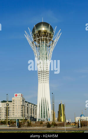 Bayterek, monument and observation tower, Astana, the capital of Kazakhstan. A popular tourist attraction - Stock Photo