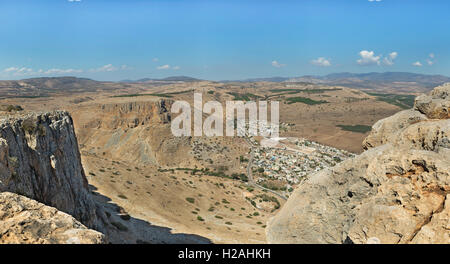 nice view from Arbel mountain in Israel - Stock Photo
