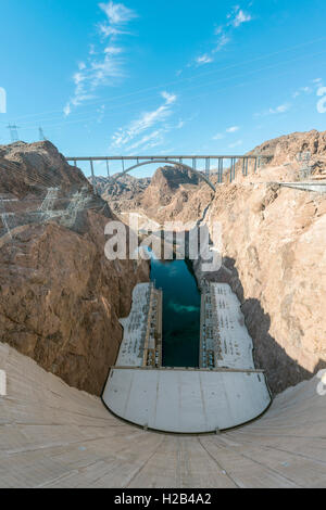 Hoover Dam, Lake Mead Recreation Area, Arizona, Nevada, USA - Stock Photo