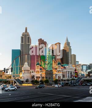 New York New York Hotel and Casino, Las Vegas, Nevada, USA - Stock Photo