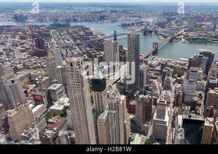 An aerial view of New York City. - Stock Photo