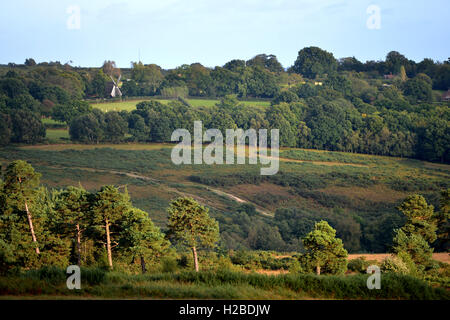 Ashdown forest, East Sussex, showing Nutley windmill - Stock Photo
