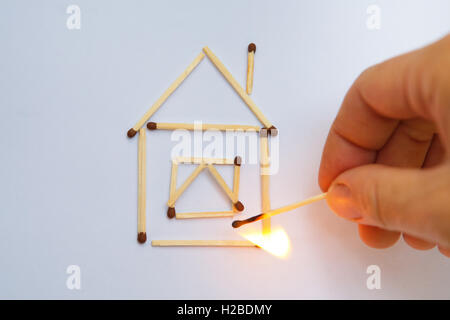 Burning model house