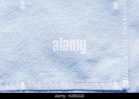 Light blue bath towel texture as background - Stock Photo