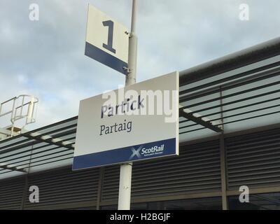 Partick train station, Glasgow, Scotland - Stock Photo