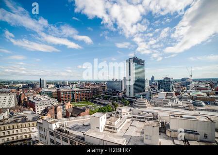 Manchester City Skyline Cityscape - Stock Photo