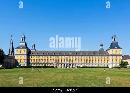 Kurfürstliches Schloss (Electors' Palace), now the main university building, taken from the Hofgartern, Bonn, Germany - Stock Photo