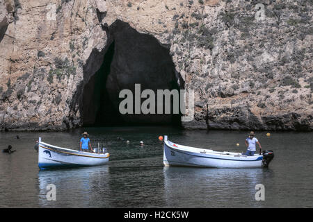 Inland Sea, Dwejra Bay, Gozo, Malta - Stock Photo