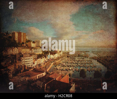 FINE ART: The Harbour at Torquay (Devon, United Kingdom) - Stock Photo