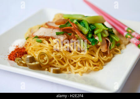 Egg chinese dried noodles - Stock Photo